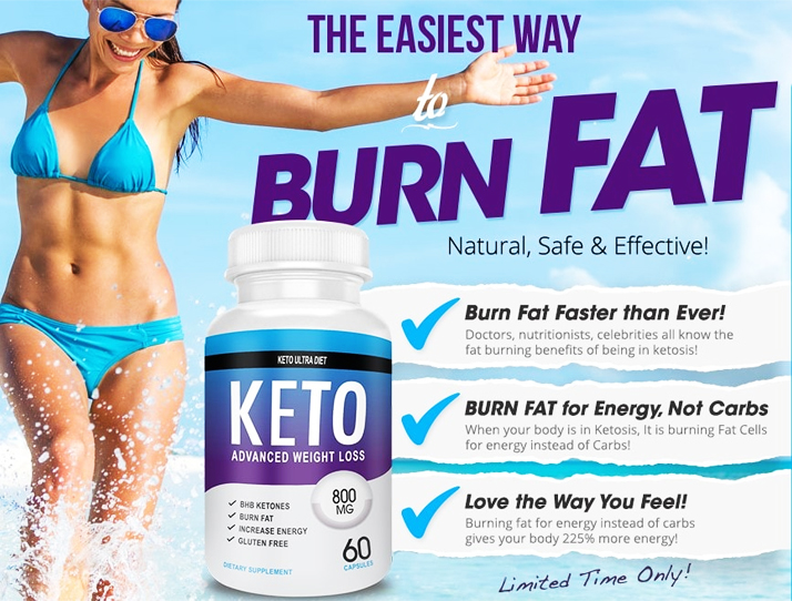 Burn fat with keto ultra diet.